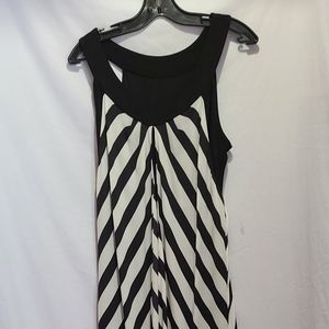 Frank Lyman black chevron dress